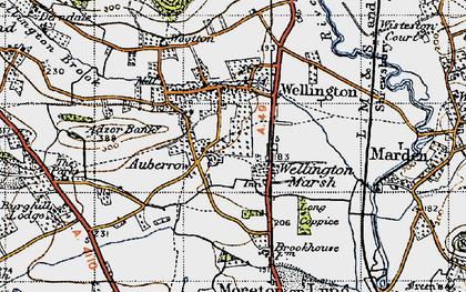 Old map of Adzor Bank in 1947