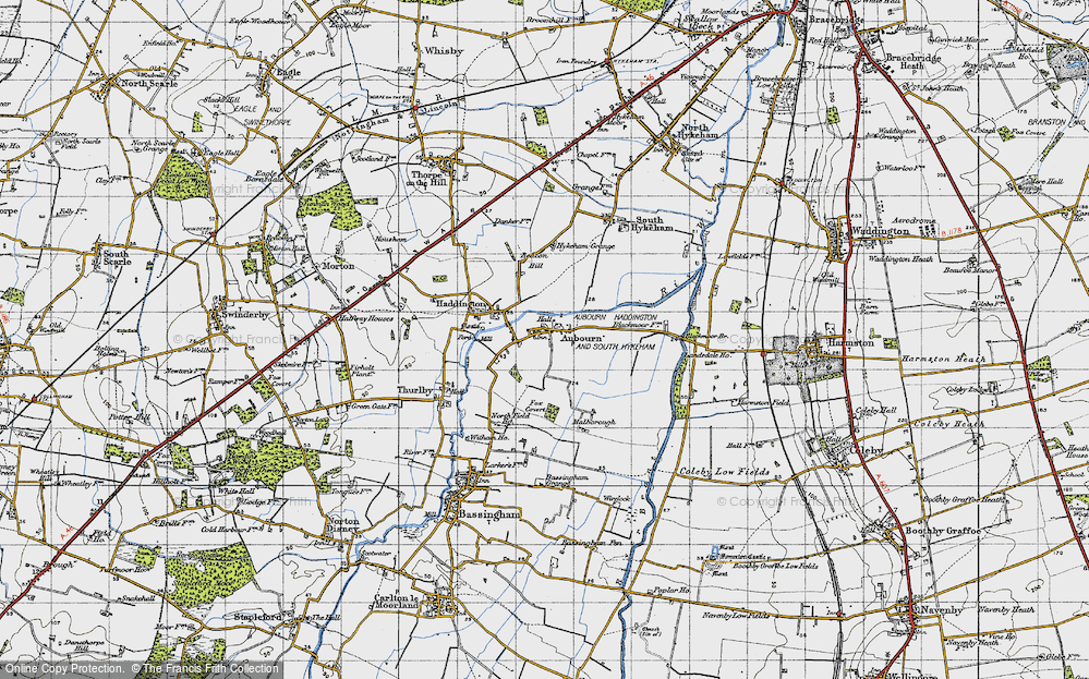 Old Map of Aubourn, 1947 in 1947