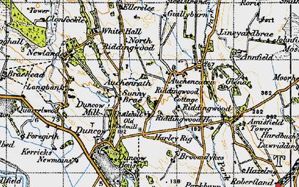 Old map of Auchencairn in 1947