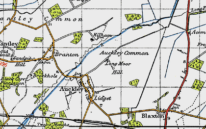 Old map of Auckley Common in 1947