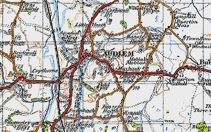 Old map of Audlem in 1947