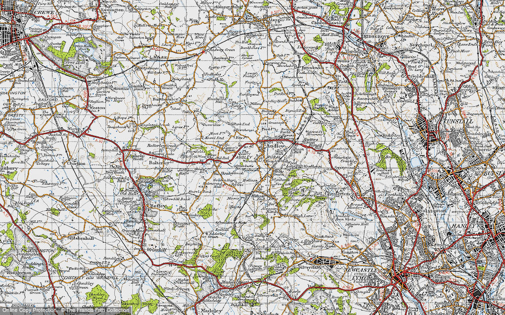 Old Map of Audley, 1946 in 1946