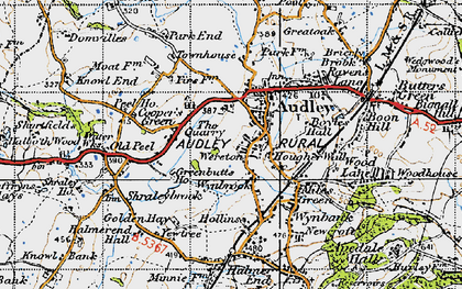 Old map of Audley in 1946