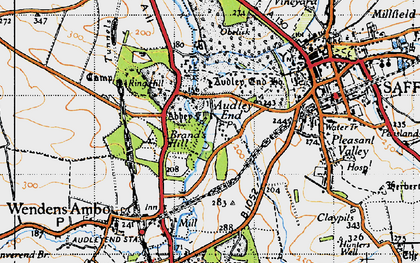 Old map of Audley End in 1946