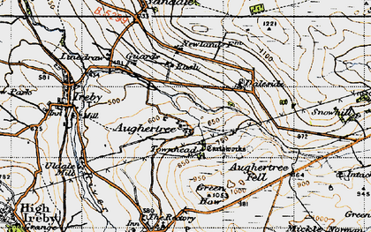 Old map of Aughertree Fell in 1947