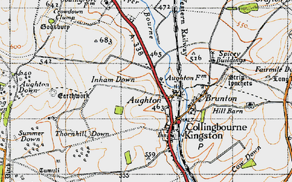 Old map of Aughton in 1940