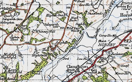 Old map of Whinney Hill in 1947