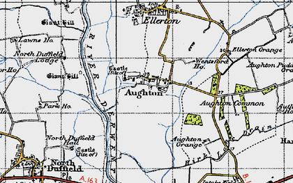 Old map of Aughton in 1947