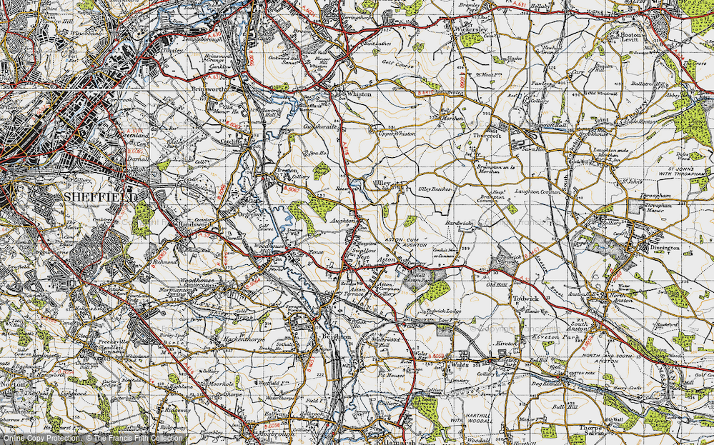 Old Map of Aughton, 1947 in 1947