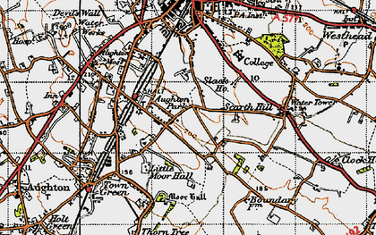 Old map of Aughton Park in 1947