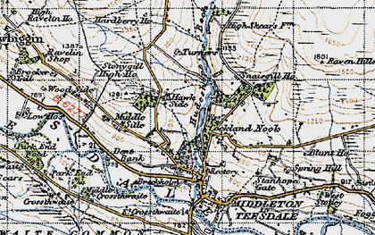 Old map of Aukside in 1947
