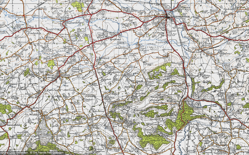 Old Map of Aulden, 1947 in 1947