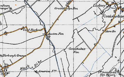Old map of Austen Fen in 1946