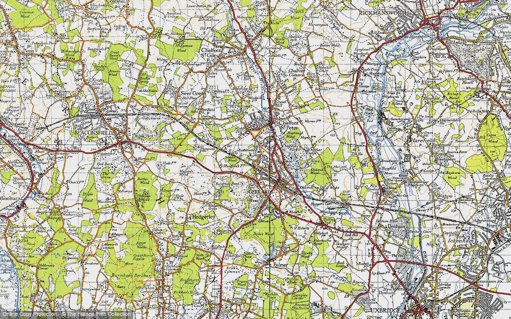 Old Map of Austenwood, 1945 in 1945