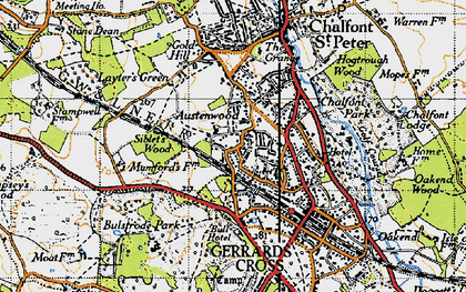 Old map of Austenwood in 1945