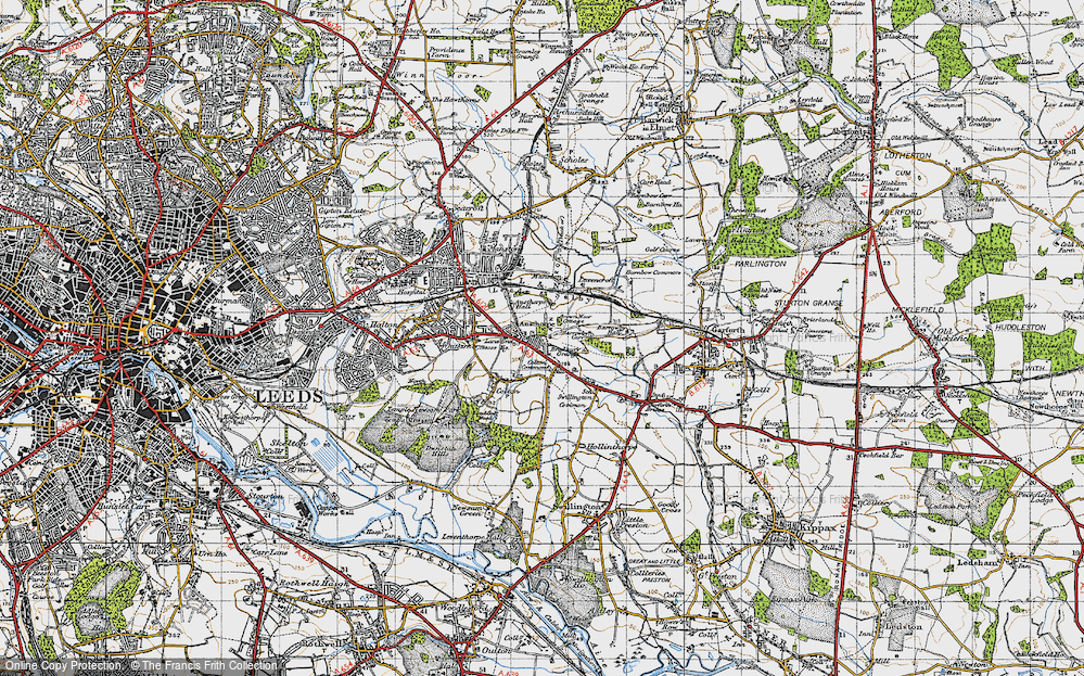 Old Map of Austhorpe, 1947 in 1947
