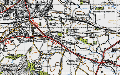 Old map of Austhorpe in 1947