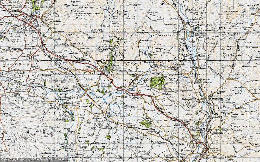 Old Map of Austwick, 1947 in 1947