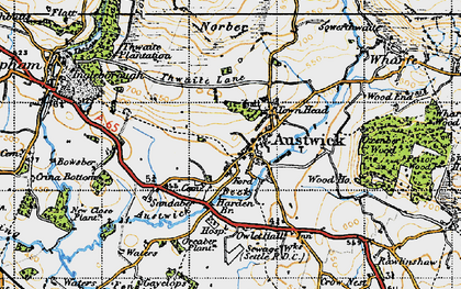 Old map of Austwick in 1947