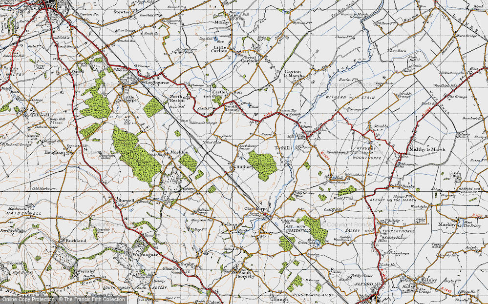 Old Map of Authorpe, 1946 in 1946