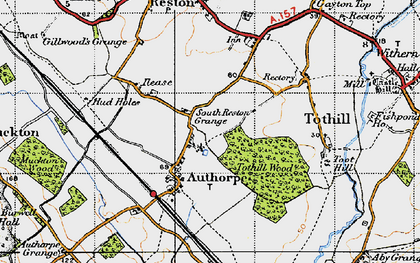 Old map of Authorpe in 1946