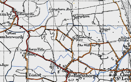 Old map of Authorpe Row in 1946