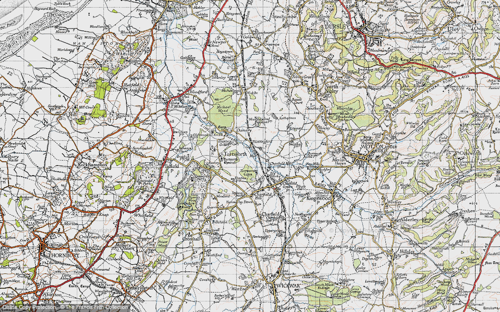 Old Map of Avening Green, 1946 in 1946