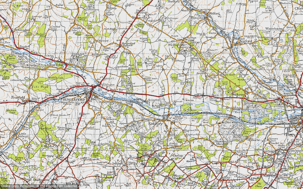 Old Map of Avington, 1945 in 1945