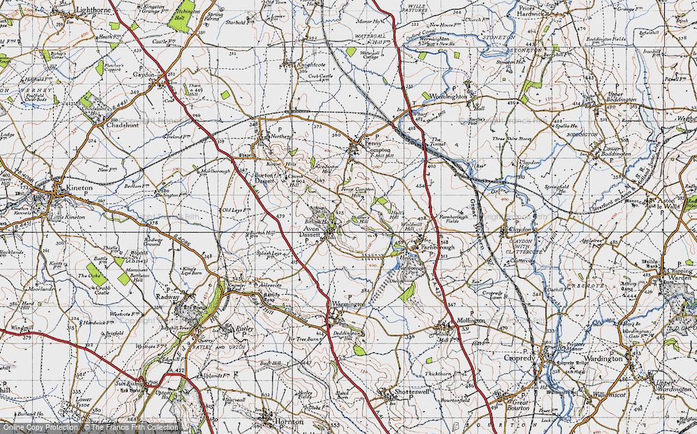 Old Map of Avon Dassett, 1946 in 1946