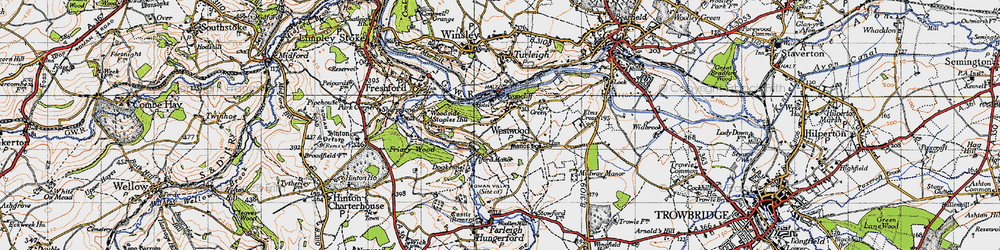 Old map of Avoncliff in 1946