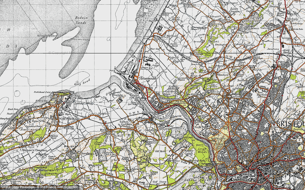 Old Map of Avonmouth, 1946 in 1946