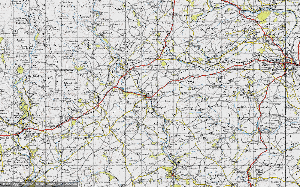 Old Map of Avonwick, 1946 in 1946