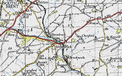Old map of Avonwick in 1946