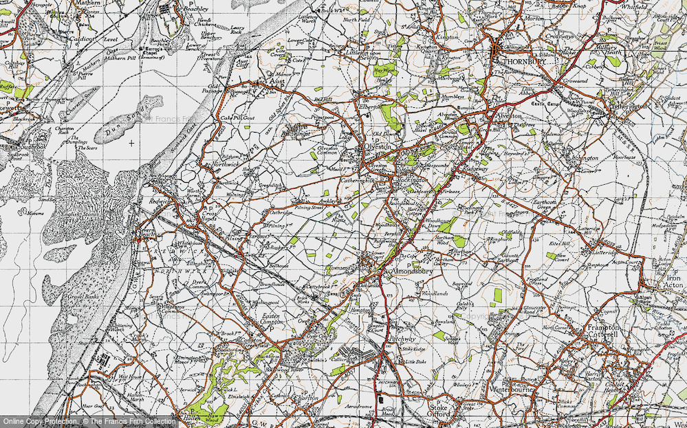 Old Map of Awkley, 1946 in 1946