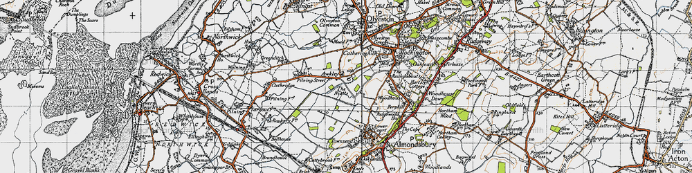 Old map of Awkley in 1946