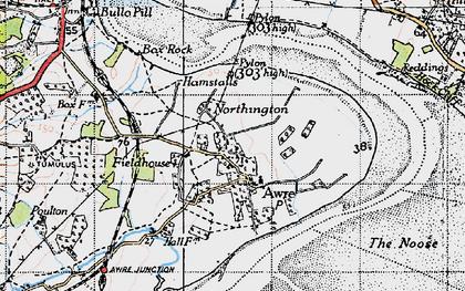 Old map of Awre in 1946