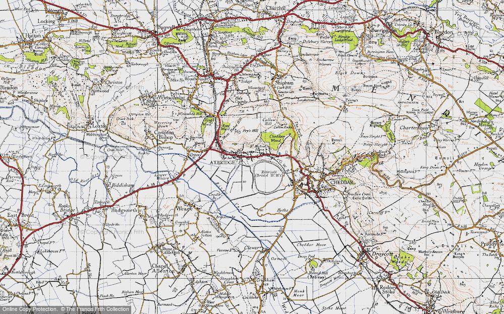 Old Map of Axbridge, 1946 in 1946