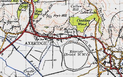Old map of Axbridge in 1946