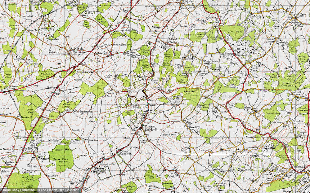Old Map of Axford, 1945 in 1945