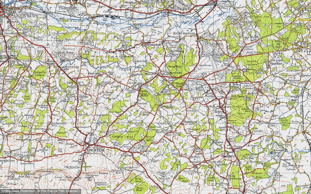 Old Map of Axmansford, 1945 in 1945