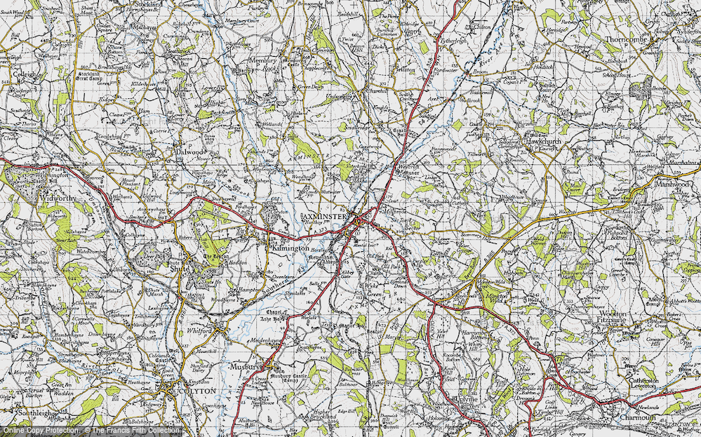 Old Map of Historic Map covering Cloakham in 1945