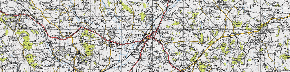 Old map of Cloakham in 1945