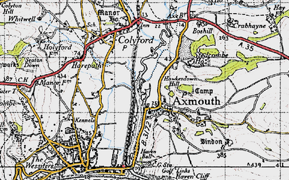 Old map of Axmouth in 1946