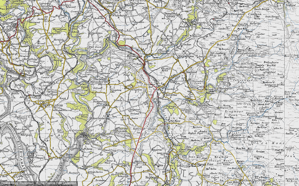 Old Map of Axtown, 1946 in 1946