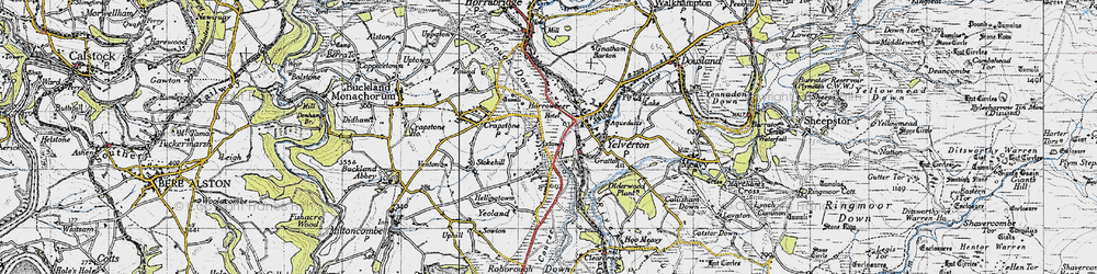 Old map of Axtown in 1946