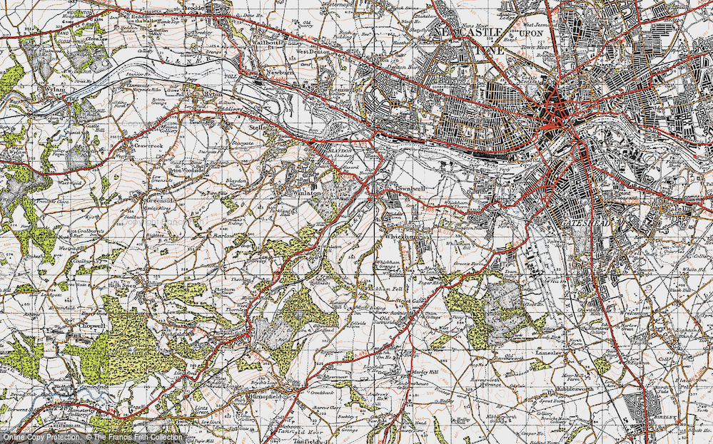 Old Map of Axwell Park, 1947 in 1947