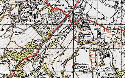 Old map of Axwell Park in 1947