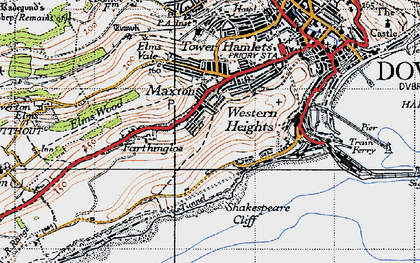 Old map of Aycliff in 1947