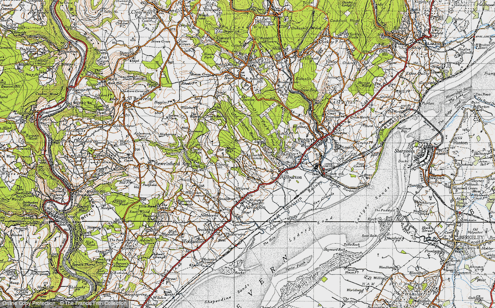 Old Map of Aylburton Common, 1946 in 1946