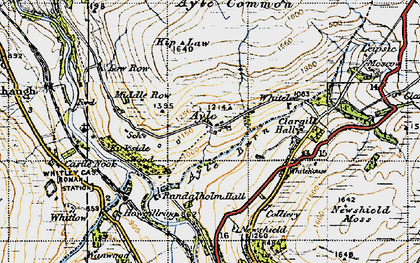 Old map of Ayle in 1947